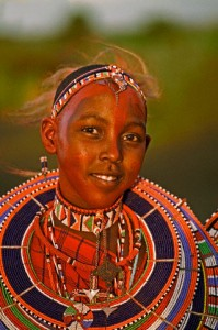 Masai Woman with Large Necklace